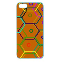 Color Bee Hive Color Bee Hive Pattern Apple Seamless Iphone 5 Case (color)
