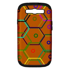 Color Bee Hive Color Bee Hive Pattern Samsung Galaxy S Iii Hardshell Case (pc+silicone) by Nexatart