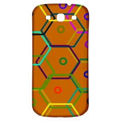 Color Bee Hive Color Bee Hive Pattern Samsung Galaxy S3 S Iii Classic Hardshell Back Case by Nexatart