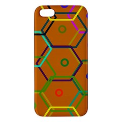 Color Bee Hive Color Bee Hive Pattern Apple Iphone 5 Premium Hardshell Case by Nexatart