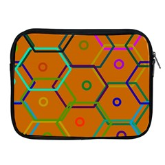 Color Bee Hive Color Bee Hive Pattern Apple Ipad 2/3/4 Zipper Cases