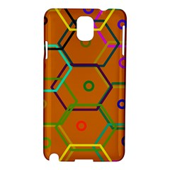 Color Bee Hive Color Bee Hive Pattern Samsung Galaxy Note 3 N9005 Hardshell Case