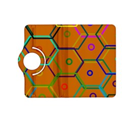 Color Bee Hive Color Bee Hive Pattern Kindle Fire Hd (2013) Flip 360 Case by Nexatart