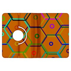 Color Bee Hive Color Bee Hive Pattern Kindle Fire Hdx Flip 360 Case by Nexatart