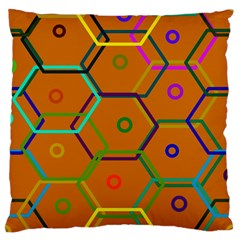 Color Bee Hive Color Bee Hive Pattern Standard Flano Cushion Case (one Side)