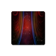 Bright Background With Stars And Air Curtains Square Magnet