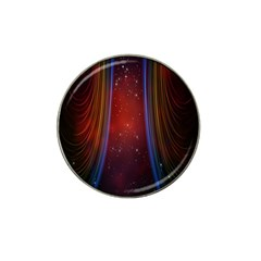 Bright Background With Stars And Air Curtains Hat Clip Ball Marker (10 Pack) by Nexatart