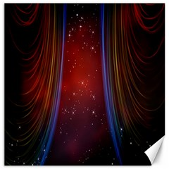 Bright Background With Stars And Air Curtains Canvas 16  X 16   by Nexatart