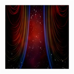 Bright Background With Stars And Air Curtains Medium Glasses Cloth (2 Side) by Nexatart
