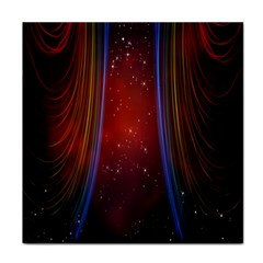 Bright Background With Stars And Air Curtains Face Towel