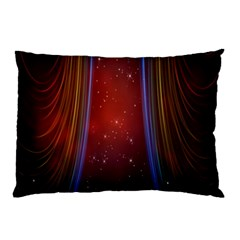 Bright Background With Stars And Air Curtains Pillow Case by Nexatart