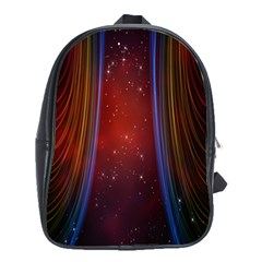 Bright Background With Stars And Air Curtains School Bags(large)  by Nexatart