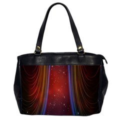 Bright Background With Stars And Air Curtains Office Handbags (2 Sides)  by Nexatart
