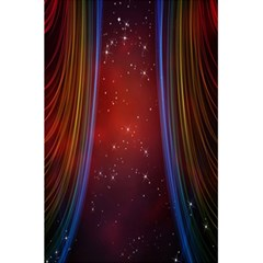 Bright Background With Stars And Air Curtains 5 5  X 8 5  Notebooks by Nexatart