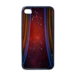 Bright Background With Stars And Air Curtains Apple Iphone 4 Case (black)