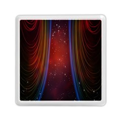 Bright Background With Stars And Air Curtains Memory Card Reader (square)  by Nexatart