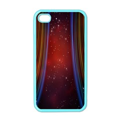 Bright Background With Stars And Air Curtains Apple Iphone 4 Case (color)
