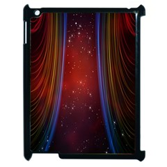 Bright Background With Stars And Air Curtains Apple Ipad 2 Case (black) by Nexatart