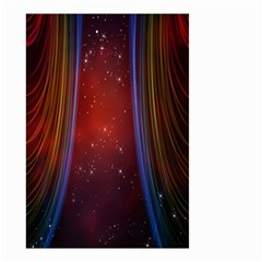 Bright Background With Stars And Air Curtains Small Garden Flag (two Sides) by Nexatart