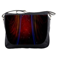 Bright Background With Stars And Air Curtains Messenger Bags