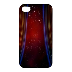 Bright Background With Stars And Air Curtains Apple Iphone 4/4s Premium Hardshell Case