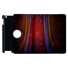 Bright Background With Stars And Air Curtains Apple Ipad 2 Flip 360 Case by Nexatart