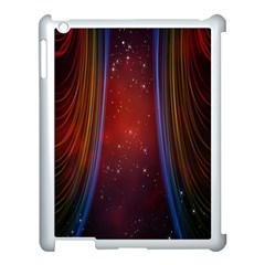 Bright Background With Stars And Air Curtains Apple Ipad 3/4 Case (white) by Nexatart