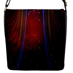 Bright Background With Stars And Air Curtains Flap Messenger Bag (s) by Nexatart