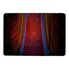 Bright Background With Stars And Air Curtains Samsung Galaxy Tab Pro 10 1  Flip Case by Nexatart
