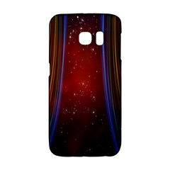 Bright Background With Stars And Air Curtains Galaxy S6 Edge by Nexatart