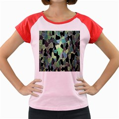 Wallpaper Background With Lighted Pattern Women s Cap Sleeve T Shirt
