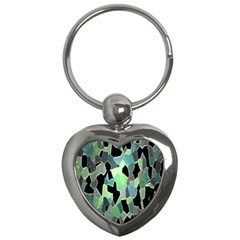 Wallpaper Background With Lighted Pattern Key Chains (heart)  by Nexatart