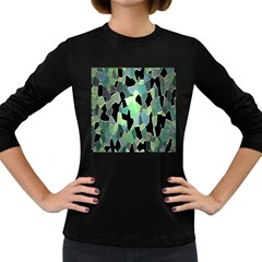 Wallpaper Background With Lighted Pattern Women s Long Sleeve Dark T-Shirts