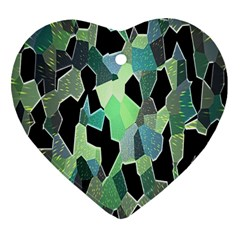 Wallpaper Background With Lighted Pattern Heart Ornament (two Sides) by Nexatart