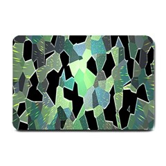 Wallpaper Background With Lighted Pattern Small Doormat  by Nexatart