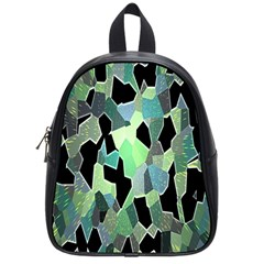 Wallpaper Background With Lighted Pattern School Bags (small)  by Nexatart
