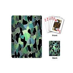 Wallpaper Background With Lighted Pattern Playing Cards (mini)  by Nexatart