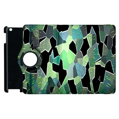 Wallpaper Background With Lighted Pattern Apple Ipad 3/4 Flip 360 Case by Nexatart