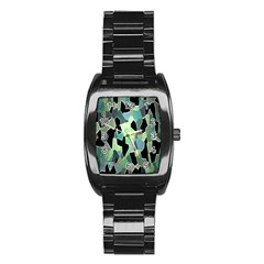 Wallpaper Background With Lighted Pattern Stainless Steel Barrel Watch by Nexatart
