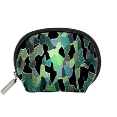 Wallpaper Background With Lighted Pattern Accessory Pouches (small)  by Nexatart