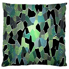 Wallpaper Background With Lighted Pattern Large Flano Cushion Case (two Sides) by Nexatart