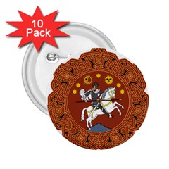Coat Of Arms Of The Democratic Republic Of Georgia (1918 1921, 1990 2004) 2 25  Buttons (10 Pack)  by abbeyz71