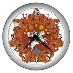 Coat Of Arms Of The Democratic Republic Of Georgia (1918 1921, 1990 2004) Wall Clocks (silver)  by abbeyz71