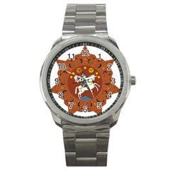 Coat Of Arms Of The Democratic Republic Of Georgia (1918 1921, 1990 2004) Sport Metal Watch by abbeyz71