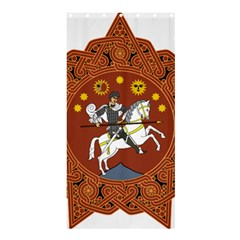 Coat Of Arms Of The Democratic Republic Of Georgia (1918 1921, 1990 2004) Shower Curtain 36  X 72  (stall)  by abbeyz71