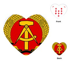 National Emblem Of East Germany  Playing Cards (heart)  by abbeyz71