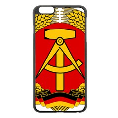National Emblem Of East Germany  Apple Iphone 6 Plus/6s Plus Black Enamel Case by abbeyz71