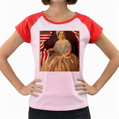 Betsy Ross Author Of The First American Flag And Seal Patriotic Usa Vintage Portrait Women s Cap Sleeve T Shirt by yoursparklingshop