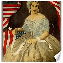 Betsy Ross Author of The First American Flag and Seal Patriotic USA Vintage Portrait Canvas 20  x 20   by yoursparklingshop