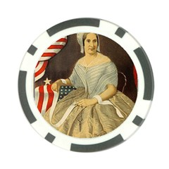 Betsy Ross Author Of The First American Flag And Seal Patriotic Usa Vintage Portrait Poker Chip Card Guard by yoursparklingshop